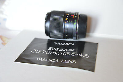 Lens Yashica 35-70mm f3.5-4.5 MC zoom -- C/Y Mount -- ideal for mirrorless