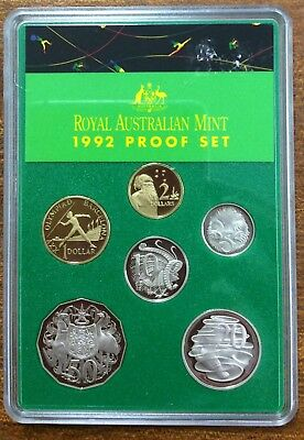 1992  proof year set -  refer to pictures