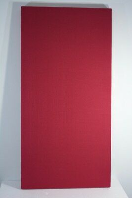 6 pack New Acoustic Panels 24″ x 48″ x 2″ Red Burlap Studio Absorbers - SET of 6