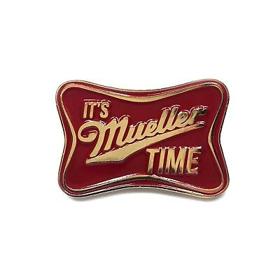 Mueller Time Enamel Pin Comey Politics Democrat Heady Festival Hat and Lapel