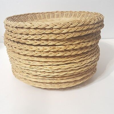 15 Vintage Wicker Paper Plate Holders Picnic Party Rattan Bamboo Hong Kong & BAMBOO WICKER RATTAN Paper Plate Holders VINTAGE 9