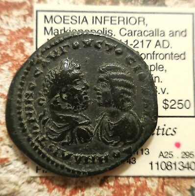 Markianopolis, Caracalla & Domna, Sold in Pegasi Auction back in 2011 for $165!