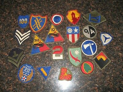 Group of Vintage WW II Miliary Patches
