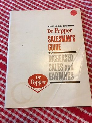 Vintage Dr Pepper Salesman's Manual Guide From 1963-1964 Pepsi-Cola