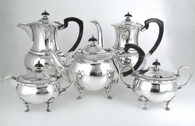Vintage Angus & Coote silver-plate tea service teapot coffee pot Australia 40s