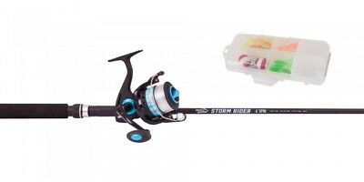 Jarvis Walker Storm Rider 6' Spin Rod And Reel Combo - Blue /black