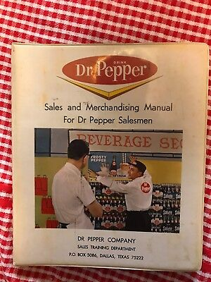 Vintage 1965 Sales And Merchandising Manual For Dr Pepper Salesman Pepsi Cola
