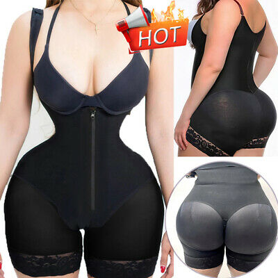Fajas Reductoras Colombianas Post Surgery Full Body Shaper Slip Suit Powernet RW