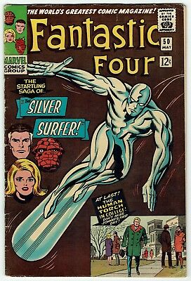 Fantastic Four #50 (Marvel, May 1966) GD/GD+, Raw, The Saga of the SILVER SURFER