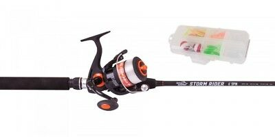 Jarvis Walker Storm Rider 6' Spin Rod And Reel Combo - Orange (Red) /black