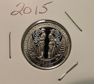 2015 50c Anzac coin - We Will Remember -