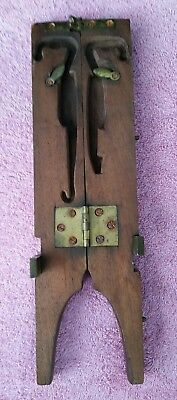 Antique Boot Stretche Or Architectural Ornament, Vintage Old Carved Wood