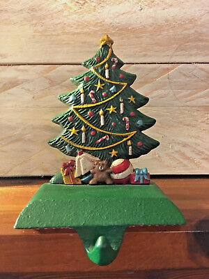 Midwest of Cannon Falls Cast Iron CHRISTMAS TREE w/Toys Stocking Hanger Holder