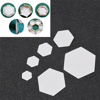 100x Hexagon Paper Piecing Quilting Templates Cut Papers Quilting Sewing 100pcs