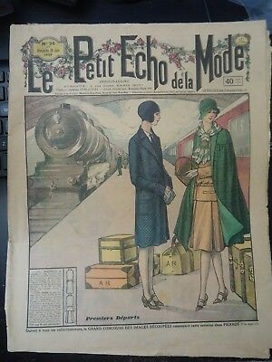 *VTG  LE PETIT ECHO de la MODE 1929 PARIS FASHION & SEWING PATTERN CATALOG