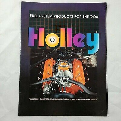 tb Holley Carburators Vintage Print Booklet Ad Photo 90s Fuel Injection Intakes