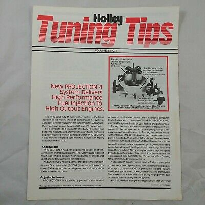 tb Holley Vtg Print Booklet TUNING TIPS Fuel Pro-Injection Intakes TBIs 90s #3