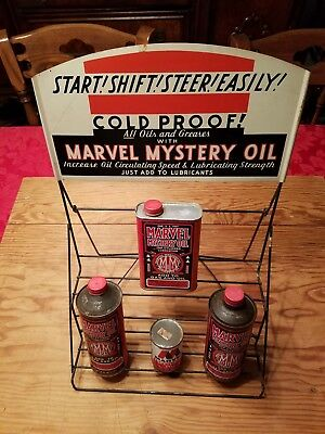 Vintage Marvel Mystery Oil rack measures approx 13 inch by 20 inch. auto, gas