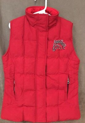 Girls Kids Cedar Rose Western Cowgirl Horses Rodeo Red Vest Large Cute!