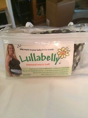 Lullabelly Prenatal Music Belt Blue with polka dots