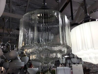 New Clear Shade Lamp Glass Shade Fitting Victorian Art Deco Light Pendant Empire