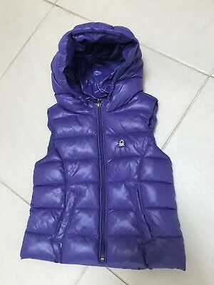 NWOT Girls UNITED COLORS OF BENETTON Purple Puffy Vest. Size 1-2