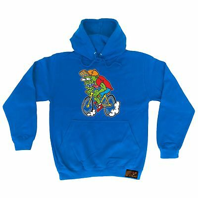 Cycling Hoodie - Zombie Cyclist - hoody top bicycle cycle funny Birthday HOODY