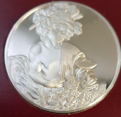 100 Greatest Masterpieces 2.08oz Sterling Silver Proof - Bacchus