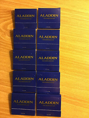 Lot Of 10 Matchbooks From The Long Closed Aladdin Casino Resort Matches Vegas
