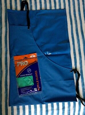 Pro Safety Gear 100% PVC Apron & Solvent Resistant Gloves Darkroom Photography