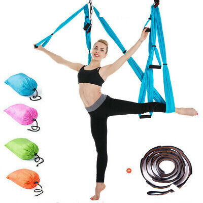 Aerial Yoga Hammock Home Gym Anti-Gravity Sling Pilates Swing Trapeze Invertion