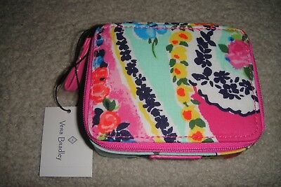 "VERA BRADLEY TRAVEL PILL CASE in the NEW ""WILDFLOWER PAISLEY"" PATTERN.  NWT! $18"