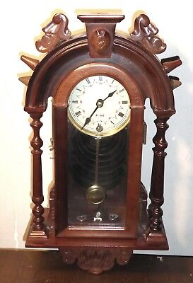 Vintage 31 day wall clock, nice looking but sold for SPARES OR REPAIRS