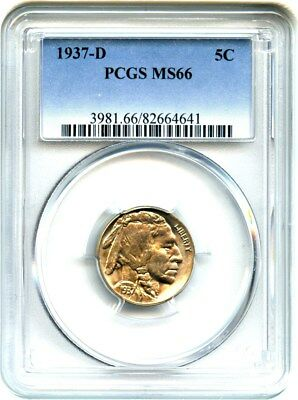 1937-D 5c PCGS MS66 - Buffalo Nickel