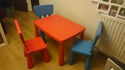 Ikea large childrens table & three chairs