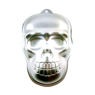 Skull Cake Cookie Jelly Tin Pan Halloween Baking Mold Mould Kitchen Craft jx