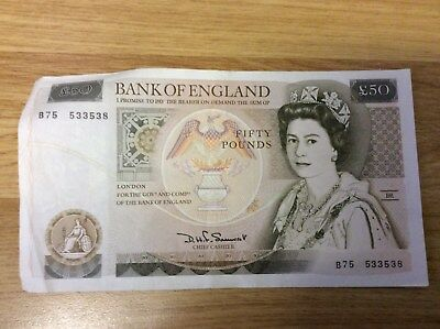 Bank of England 50 Pounds Sterling Bank Note (Sir Christopher Wren)