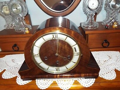 Professionally Restored French/odo Mantle Clock Four Quarter Westminster Chiming