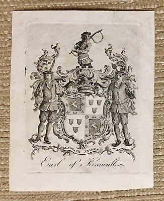 Antique Ex Libris Bookplate For The EARL OF KINNOULL