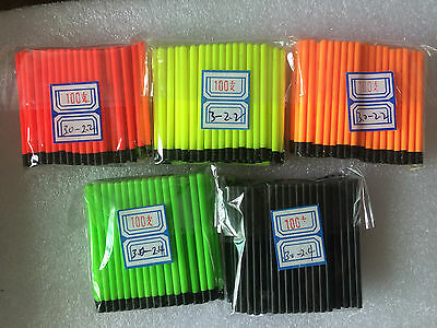 6 of 6 Hollow Antenna Fluo Tips Bristle For Pole Fish Float Pack of 200pcs 3.0mm