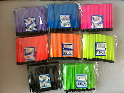5 of 6 Hollow Antenna Fluo Tips Bristle For Pole Fish Float Pack of 200pcs 2.5mm