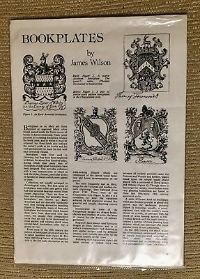 Three Small Interesting Articles On Bookplates