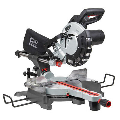 "Sip 10"" Laser Sliding Compound Mitre Saw 230V Pre-Set Stops"