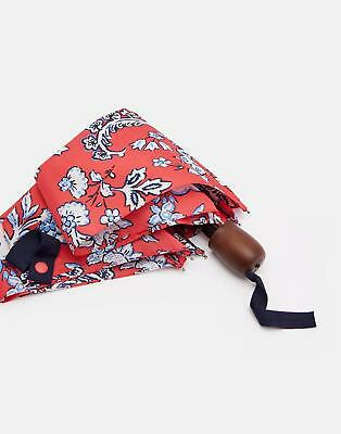 Joules Brolly Packaway Umbrella in Red Sky Indienne Floral in One Size