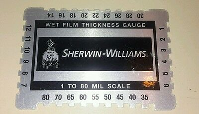 Wet Film Thickness Gauge Combs, Mil, Step notched for Paints 1 to 80 mil