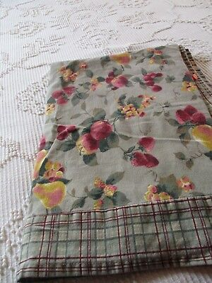 Vintage look FRUIT Tablecloth SHABBY Cottage French Country Victorian CHIC
