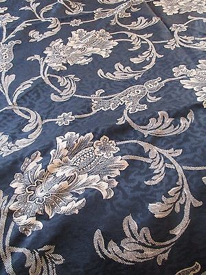 CROSCILL scrolls Floral Black Tablecloth French Country Cottage Shabby CHIC