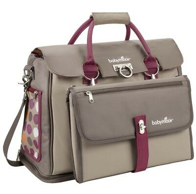 Babymoov Free Hand Baby Maternity Changing Bag Taupe Hibiscus