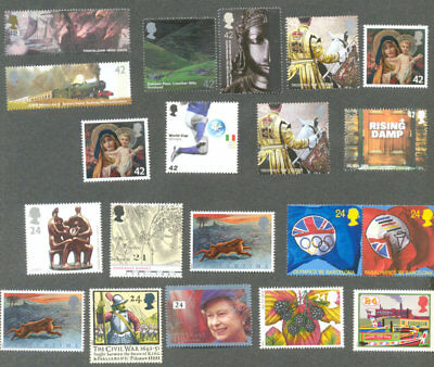 Great Britain Postage full gum First class rate x 10(2 stamps)-Save nearly 20%