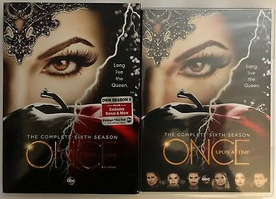 New Once Upon A Time Complete Sixth Season Dvd + Slipcover Sleeve Free Shipping